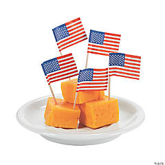 Paper USA Flag Picks