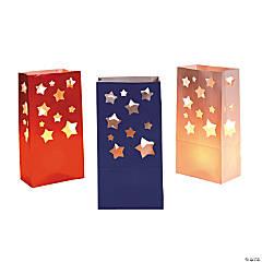 Paper USA Star Luminary Bags