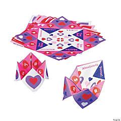 Paper Valentine Fortune Teller Games