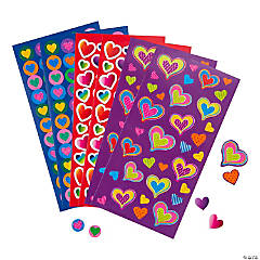 Paper Valentine Heart Sticker Sheets