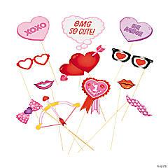 Paper Valentine Photo Stick Props
