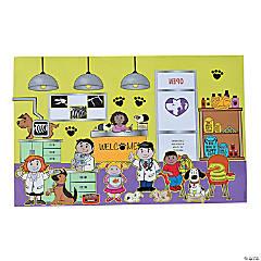 Paper Veterinary Sticker Scenes