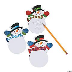 Paper Waving Snowman Notepads