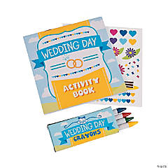 Paper Wedding Day Activity Books with Stickers & Crayons