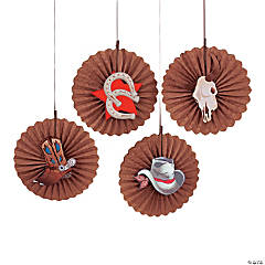 Paper Western Party Hanging Fans