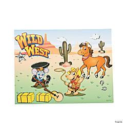 Paper Wild West Sticker Scenes