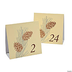 Paper Winter Enchantment Table Tent Cards