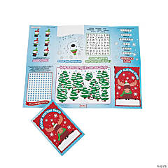 Paper Winter Fold-Up Activity Sheets