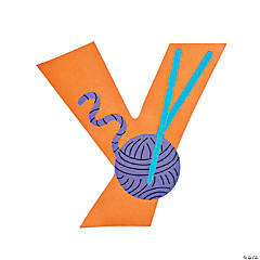 "Paper ""Y Is For Yarn"" Lowercase Letter Y Craft Kit"