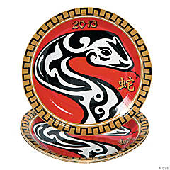 Paper Year of the Snake Dessert Plates