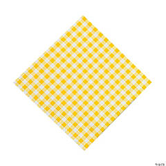 Paper Yellow Gingham Luncheon Napkins