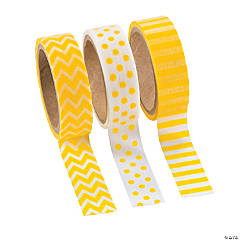 Paper Yellow Washi Tape Set