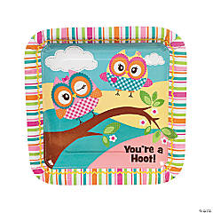 "Paper ""You're A Hoot"" Dinner Plates"