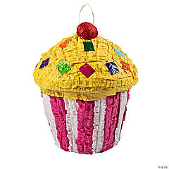 Papier-Mâché Birthday Celebration Cupcake Piñata