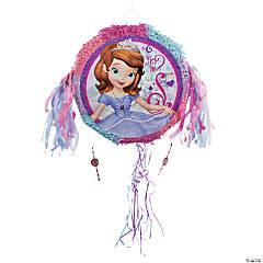 Papier-Mâché Sofia the First Pop-Out Pull-String Piñata