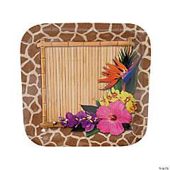 Paradise Safari Square Paper Dinner Plates - 8 Ct.