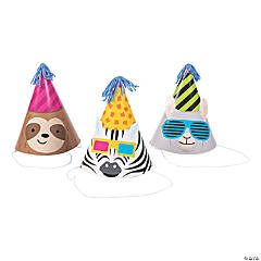 Party Animal Cone Party Hats
