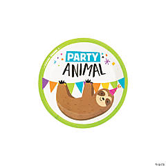 Party Animal Paper Dessert Plates - 8 Ct.