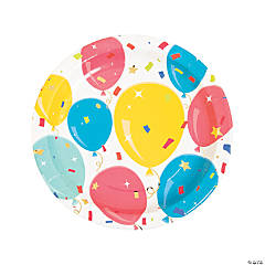 Party Balloon Paper Dinner Plates - 24 Ct.