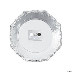 Party Porcelain Silver, White & Black Paper Dinner Plates