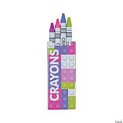 Pastel Color Brick Crayons