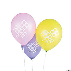 "Pastel Color Brick Party 12"" Latex Balloons"