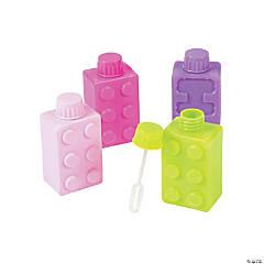 Pastel Color Brick Party Bubble Bottles