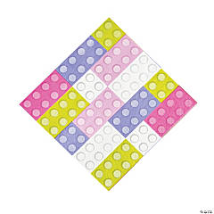 Pastel Color Brick Party Luncheon Napkins