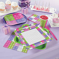 Pastel Color Brick Tray With Cones Less Than Perfect 1 Piece Party Supplies
