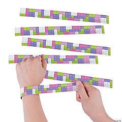 Pastel Color Brick Slap Bracelets