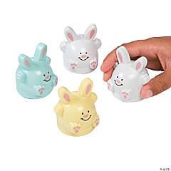 Pastel Easter Bunny Pull-Back Toys