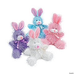 Pastel Furry Stuffed Bunnies