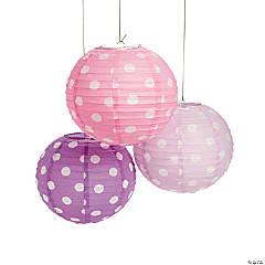 Pastel Polka Dot Paper Lanterns