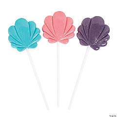 Pastel Seashell Lollipops