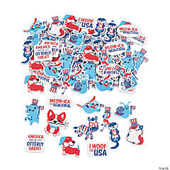 Patriotic Animal Self-Adhesive Shapes