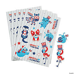 Patriotic Animal Sticker Sheets