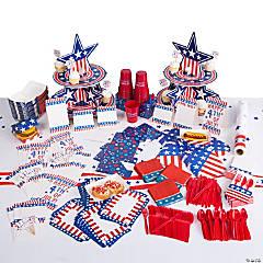 Patriotic BBQ Tableware Kit for 48 Guests