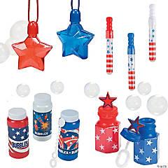 Patriotic Bubble Bottle Assortment Kit - 84 Pc.
