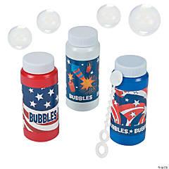 Patriotic Bubble Bottles - 12 Pc.