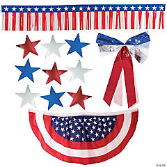 Patriotic Bunting Car Parade Decorating Kit