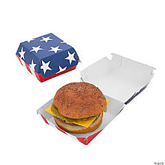 Patriotic Burger Take-Out Box