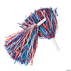 Patriotic Cheer Pom-Poms - 12 Pc.