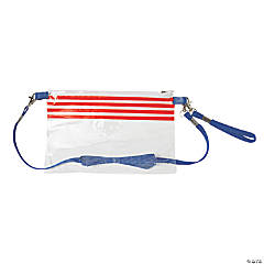 Patriotic Clear Crossbody Stadium Purse