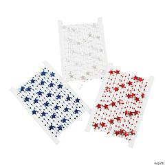 Patriotic Cording with Round Beads & Stars