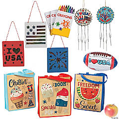 Patriotic Craft Bags for 12