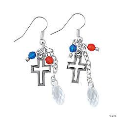 Patriotic Cross Earrings Craft Kit