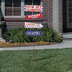 Patriotic Directional Yard Sign