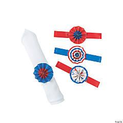 Patriotic Fan Napkin Rings