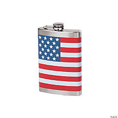 Patriotic Flag Flask