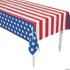 Patriotic Flag Print Tablecloth